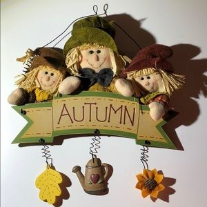 Autumn scary wall hanging fall harvest
